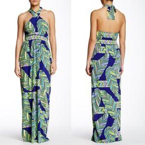 Trina Turk Tilly Print Jersey Halter Maxi Dress 4